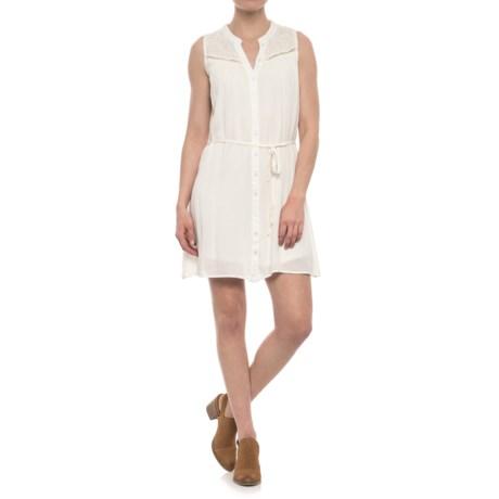 Lace Yoke Dress - Sleeveless (For Women)