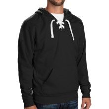 Laced Hoodie  (For Men and Women) in Black - 2nds