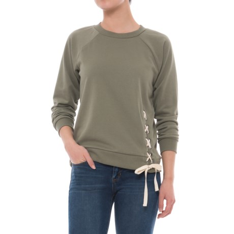 Laced Terry Shirt - Long Sleeve (For Women)