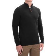 Lachlan Zip Neck Pullover Sweater (For Men) in Black - Closeouts