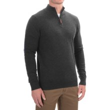 Lachlan Zip Neck Pullover Sweater (For Men) in Medium Grey Heather - Closeouts