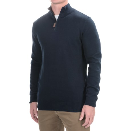 Lachlan Zip Neck Pullover Sweater (For Men)