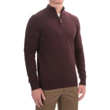 Lachlan Zip Neck Pullover Sweater (For Men) in Oxblood Heather - Closeouts