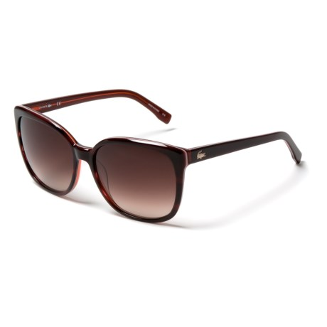 Lacoste L747s Gradient Cat-Eye Sunglasses (For Women) in Red Rose/Brown