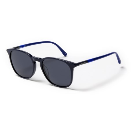 Lacoste L813S Mod Wayfarer Sunglasses (For Women) in Blue/Gray