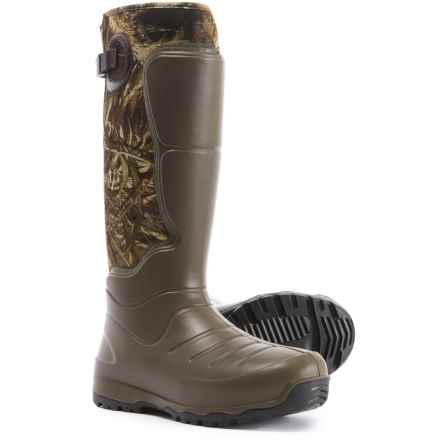 "LaCrosse AeroHead 7.0mm Rubber Hunting Boots - Waterproof, Insulated, 18"" (For Men) in Realtree Max-5 - Closeouts"