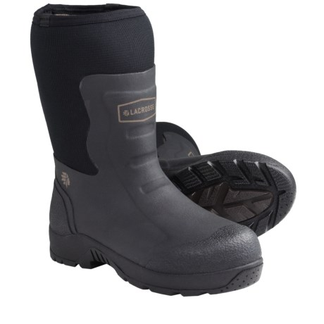 "LaCrosse Alpha Mudlite Work Boots - 12"", Plain Toe (For Men) in Black"