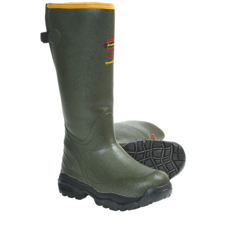 "LaCrosse Alphaburly 800g Thinsulate® Rubber Hunting Boots - 18"", Waterproof, Insulated (For Men) in Green"