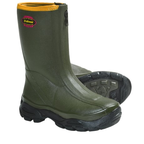 "LaCrosse Alphaburly Sport Front-Zip Rubber Hunting Boots - 12"", Waterproof (For Men) in Green"