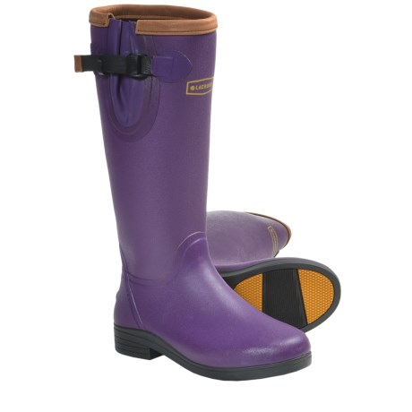 "LaCrosse Alphafilly 16"" Boots - Waterproof Rubber (For Women) in Purple"