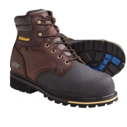 "LaCrosse Brakeman Work Boots - Waterproof, Non-Metallic Safety Toe, 6"" (For Men) in Brown"