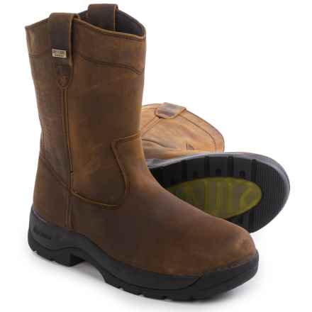 "LaCrosse Quad Comfort 11"" Wellington Work Boots - Waterproof (For Men) in Brown - Closeouts"