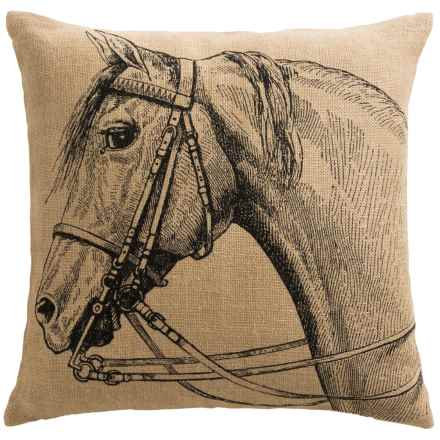 """Lady Antebellum's Heartland Delta Queen Collection Toss Pillow - 20x20"""" in Horse - Closeouts"""