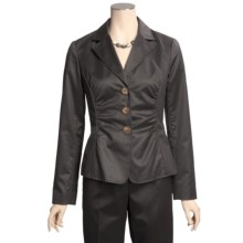 Lafayette 148 New York Allen Jacket - Glossy Suiting (For Women) in Espresso - Closeouts