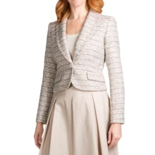 Lafayette 148 New York Aretha Jacket - Madeleine Weave (For Women) in Dusty Pink Multi - Closeouts