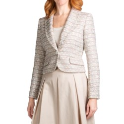 Lafayette 148 New York Aretha Jacket - Madeleine Weave (For Women) in Dusty Pink Multi