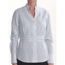 Lafayette 148 New York Bettina Shirt - Cotton, Long Sleeve (For Women) in Light Blue Multi - Closeouts
