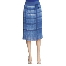 Lafayette 148 New York Bevan Skirt - Tie-Dye (For Women) in Indigo Multi - Closeouts