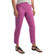 Lafayette 148 New York Bleecker Side Zip Ankle Cropped Pants - Jodhpur Cloth (For Women) in Blossom - Closeouts