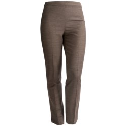 Lafayette 148 New York Bleeker Poised Suiting Pants - Stretch Wool Blend, Tapered Leg (For Women) in Espresso Multi