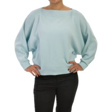 Lafayette 148 New York Boat Neck Sweater - Merino Wool (For Women) in Blyss Blue - Closeouts