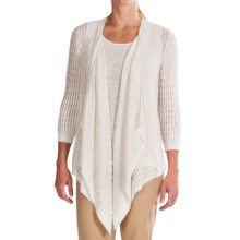 Lafayette 148 New York Botanico Cardigan Sweater - 3/4 Sleeve (For Women) in Cloud - Closeouts