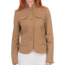 Lafayette 148 New York Cagney Jacket - Autumn Twill (For Women) in Chai - Closeouts