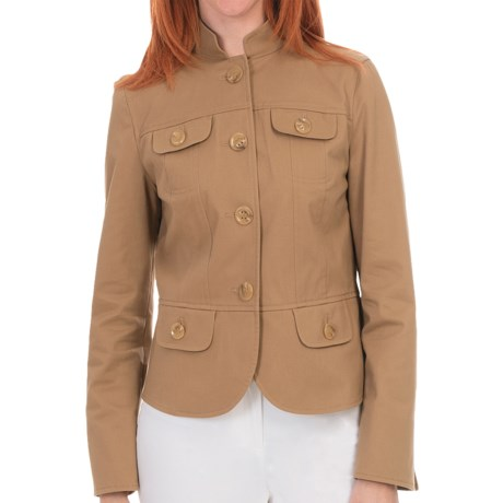 Lafayette 148 New York Cagney Jacket - Autumn Twill (For Women) in Chai