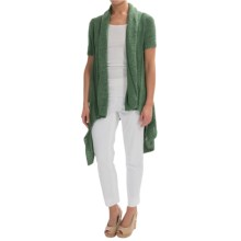 Lafayette 148 New York Cascade Cardigan Sweater - Short Sleeve (For Women) in Cypress - Closeouts