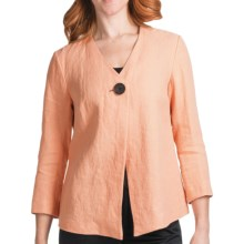 Lafayette 148 New York Catalina Laguna Linen Jacket - 3/4 Sleeve (For Women) in Seas - Closeouts