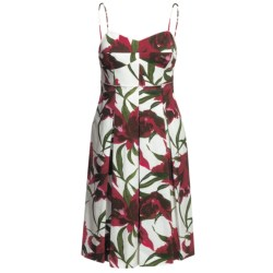 Lafayette 148 New York Clarise Dress - Spaghetti Strap (For Women) in Poppy Multi