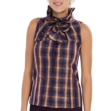 Lafayette 148 New York Clarissa Tantalizing Taffeta Shirt - Sleeveless (For Women) in Blackberry Multi - Closeouts