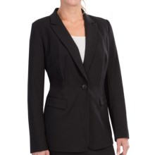 Lafayette 148 New York Contemporary Mackenzie Jacket - Stretch Wool (For Women) in Black - Closeouts