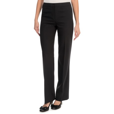 Lafayette 148 New York Contemporary Stretch Wool Classic Pants Straight Leg (For Women)