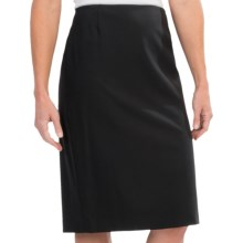 Lafayette 148 New York Contemporary Stretch Wool Slim Skirt (For Women) in Black - Closeouts