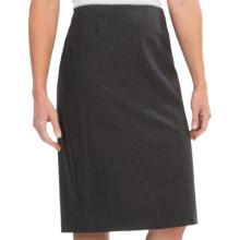 Lafayette 148 New York Contemporary Stretch Wool Slim Skirt (For Women) in Smoke - Closeouts