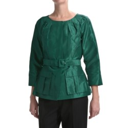 Lafayette 148 New York Continental Ezra Jacket - Silk Taffeta (For Women) in Amazon