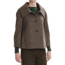 Lafayette 148 New York Cooper Jacket - Heathered Wool-Alpaca (For Women) in Cocoa - Closeouts