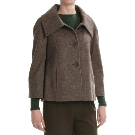 Lafayette 148 New York Cooper Jacket - Heathered Wool-Alpaca (For Women) in Cocoa