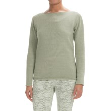 Lafayette 148 New York Cotton-Linen Sweater (For Women) in Lentil - Closeouts