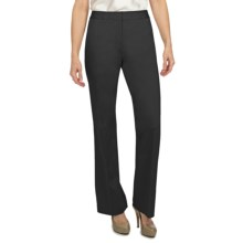 Lafayette 148 New York Cotton Sateen Pants (For Women) in Black - Closeouts
