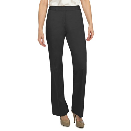 Lafayette 148 New York Cotton Sateen Pants (For Women) in Black
