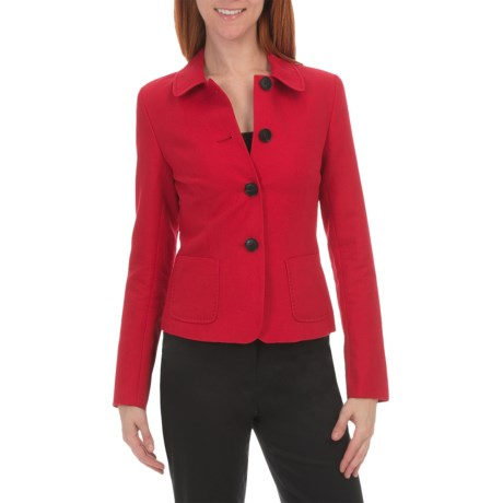 Lafayette 148 New York Darla Jacket - Cotton-Linen (For Women) in Rouge