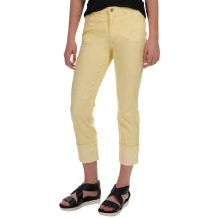Lafayette 148 New York Denim Crop Jeans (For Women) in Canary - Closeouts