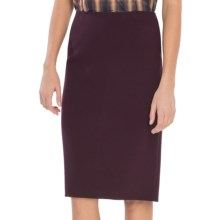 Lafayette 148 New York Elite Modern Slim Skirt - Stretch Wool (For Women) in Aubergine - Closeouts