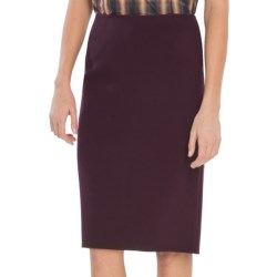 Lafayette 148 New York Elite Modern Slim Skirt - Stretch Wool (For Women) in Aubergine