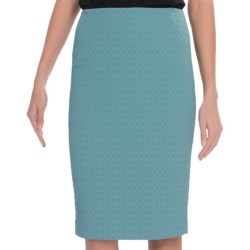 Lafayette 148 New York Elite Octagon Modern Slim Skirt (For Women) in Bay Mist