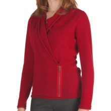 Lafayette 148 New York Excelsior Wool Wrap Sweater (For Women) in Siren - Closeouts