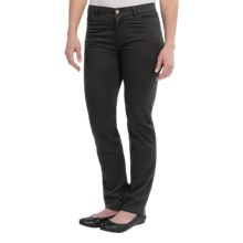 Lafayette 148 New York Garment-Washed Cotton Pants - Curvy Slim Leg (For Women) in Black - Closeouts