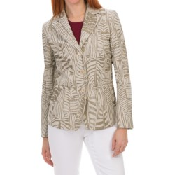 Lafayette 148 New York Gavin Jacket - Foglia Jacquard (For Women) in Oyster Multi